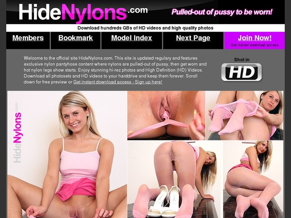 Hide Nylons With Yen