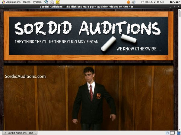 Sordidauditions.com Get Account